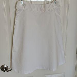Alanni Casual Skirt White Cotton, size 6